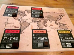 Round the World chocolate tasting board