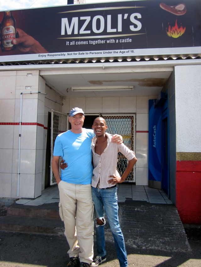 Mzoli's with Tim
