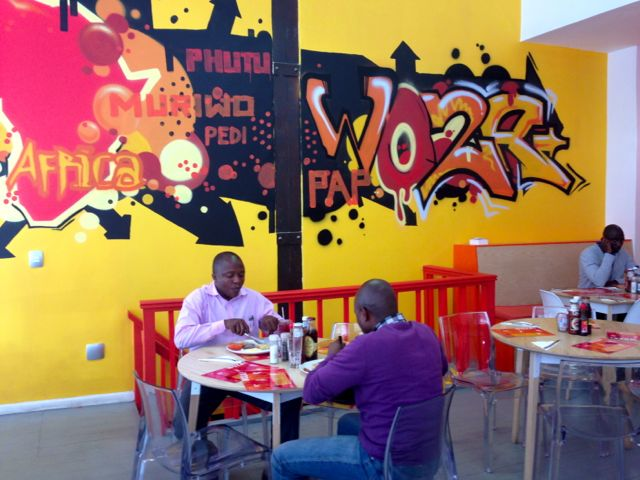 Woza - fantastic funky African Restaurant in central Cape Town