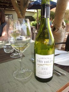 New Zealand Sauvignon Blanc with lunch!  Yum!