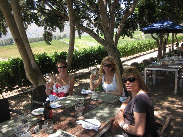 Set right next to the vines - The Long Table is the perfect place to relax on hot summers day!