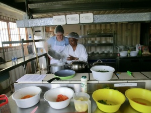 Mamma Lindy Eziko cooking with Suzanne 2