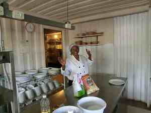 Mamma Lindy happy pic in her Eziko kitchen