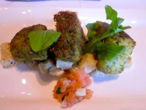 Allee Bleau herb lunch - Cape Salmon with herb crust