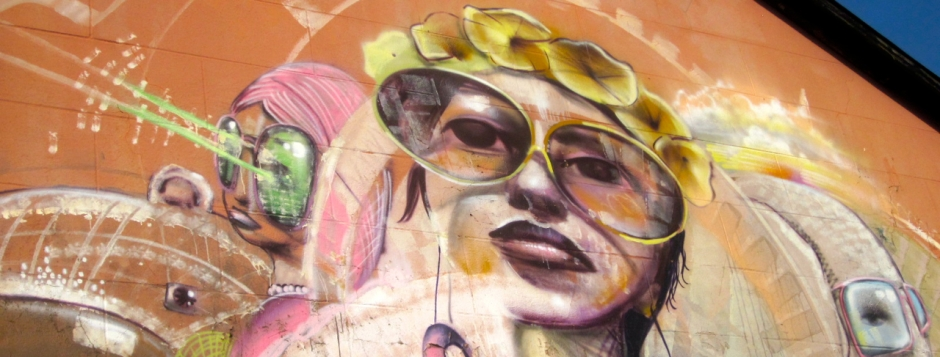 High res cropped header of Woodstock street art