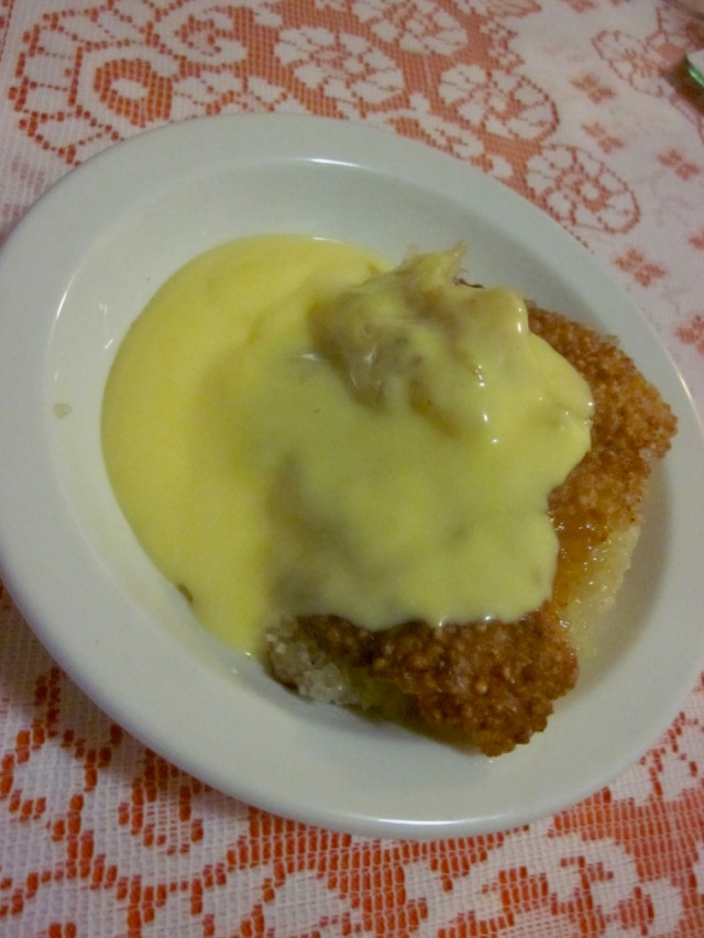 Malva Pudding with custard